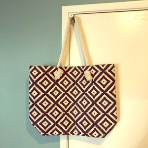 Summer & Rose Navy Diamond Tote, New w/o tags